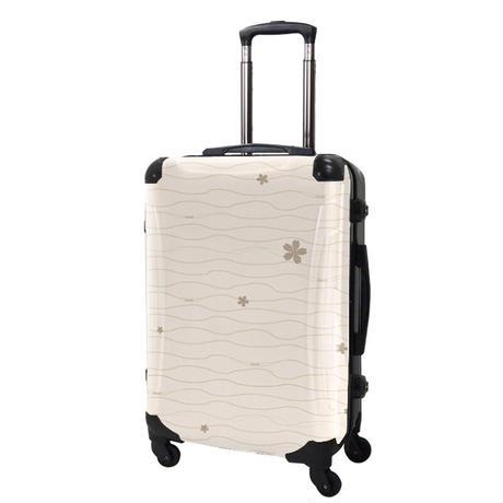 アートスーツケース#CRA03H-039C|ジャパニーズ旅趣 | 小桜(ベージュ)