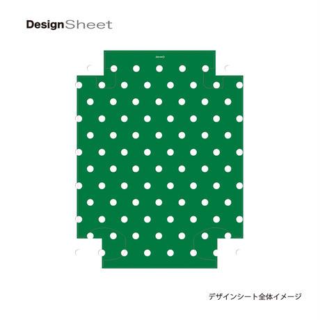アートスーツケース #CRA01H-028G ベーシック カラードット(グリーン)