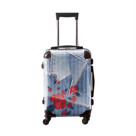 アートスーツケース #CRA01H-025D|ポップニズム デニム(コラージュブルー2 )