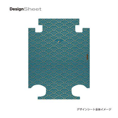 アートスーツケース #CRA01H-048D|ジャパニーズ 印伝調 青海波(ブルー )