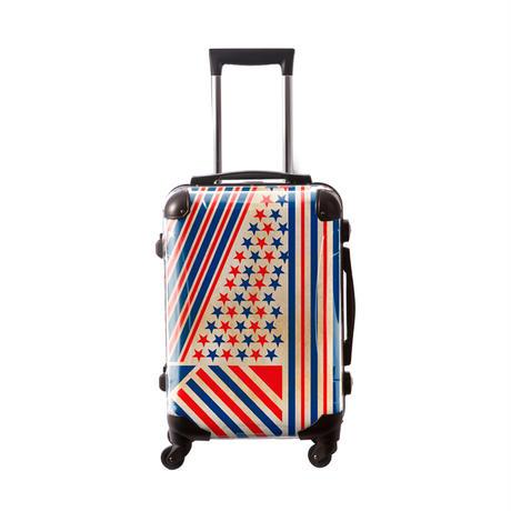 アートスーツケース #CRA01H-014C|ポップニズム アメリカン(レッド×ブルー)