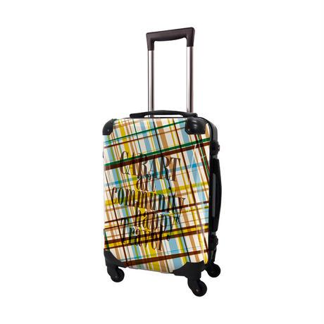 アートスーツケース #CRA01H-020A|ベーシック マドラスチェック(ブルーマドラス)