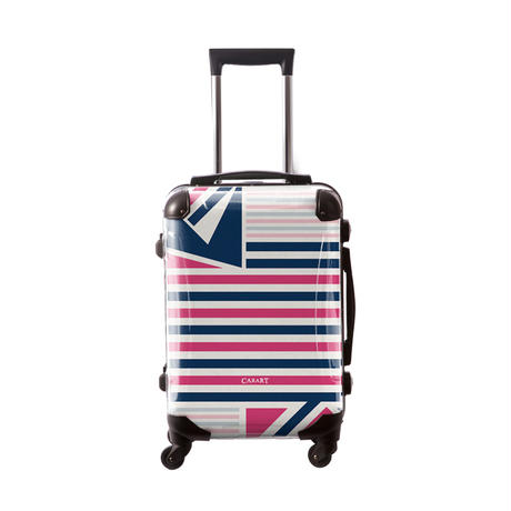 アートスーツケース #CRA01H-015F|ベーシック カジュアルボーダー(ネイビー×ピンク)