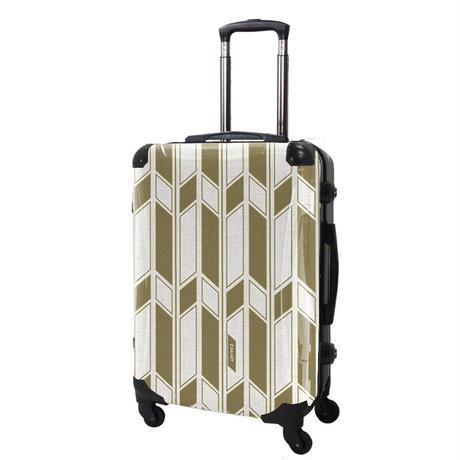 アートスーツケース#CRA03H-043D|ジャパニーズ旅趣 |  麻織(琥珀色)