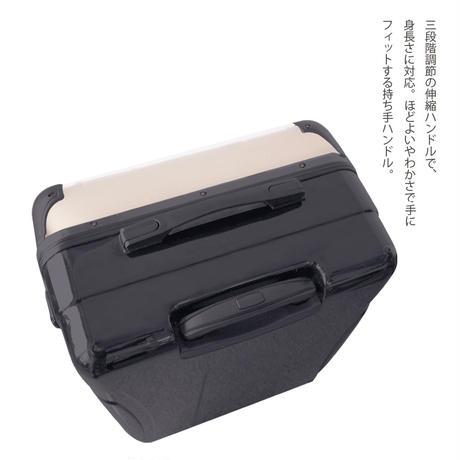アートスーツケース#CRA03H-045C|ポップニズム シティ(ホワイト×ソフトキャメル)
