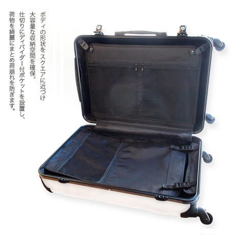 アートスーツケース#CRA03H-040B|ジャパニーズ旅趣 |水仙華(ホワイトピンク)