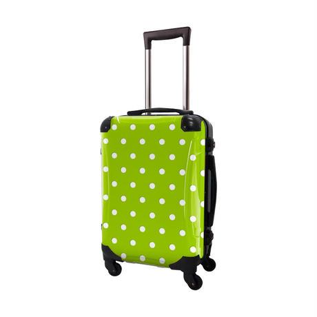 アートスーツケース #CRA01H-028E ベーシック カラードット(ライトグリーン)
