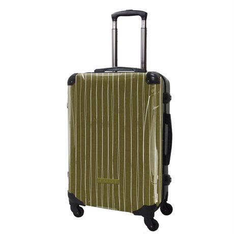 アートスーツケース#CRA03H-042C ジャパニーズ旅趣   線麗(茶緑)