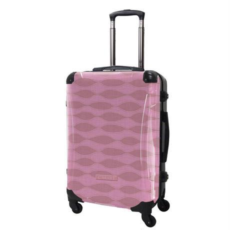 アートスーツケース#CRA03H-041B|ジャパニーズ旅趣 | 波線織(ピンク)