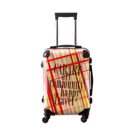 アートスーツケース #CRA01H-020C|ベーシック マドラスチェック(レッドマドラス)