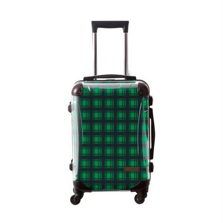 アートスーツケース #CRA01H-023G|ベーシック カラーチェックモダン(グリーン2)