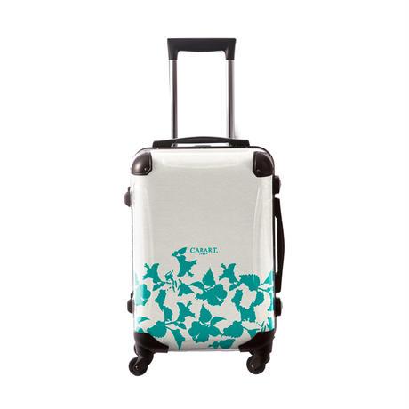 アートスーツケース #CRA01H-006D|ベーシック ピポパ(リーフエメラルド)