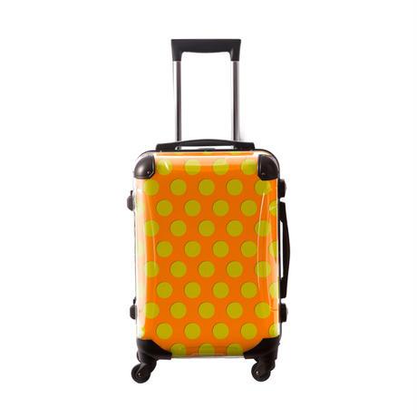 アートスーツケース #CRA01H-027C|ベーシック コミカルドット(オレンジ×ネーブルスイエロー)