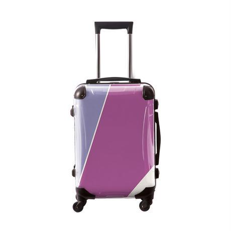 アートスーツケース #CRA01H-034F|ベーシック シューティカルコーデ(バイオレット チューリップ×ラディアント・オーキッド)