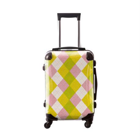 アートスーツケース #CRA01H-036A アーガイルツイスト(ピンク×イエロー×グリーン)