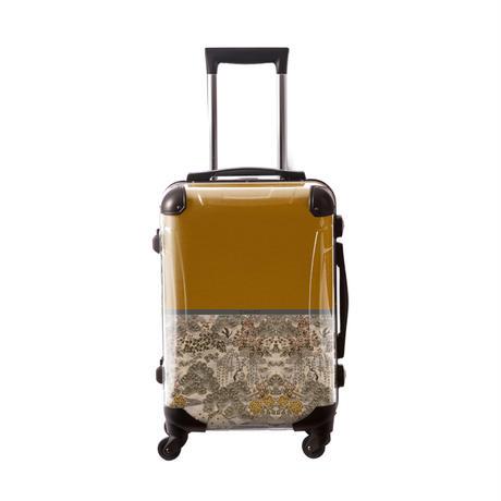 アートスーツケース #CRA01H-018F|ジャパニーズモダン 旅人(ゴールド)