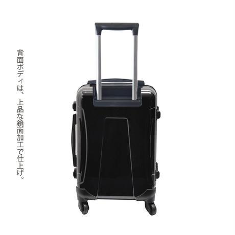 アートスーツケース #CRA01H-048A|ジャパニーズ 印伝調 青海波(ブラウン)