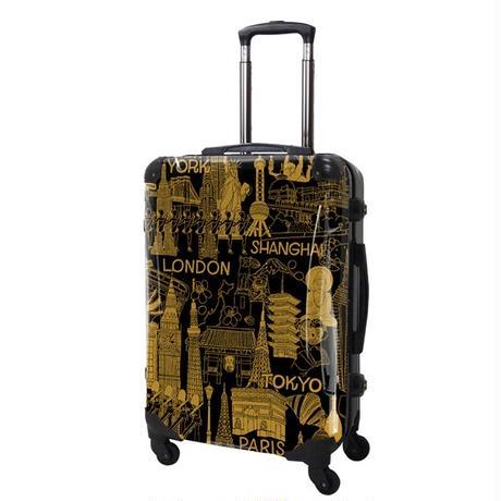 アートスーツケース#CRA03H-045D|ポップニズム シティ(キャメル×ブラック)