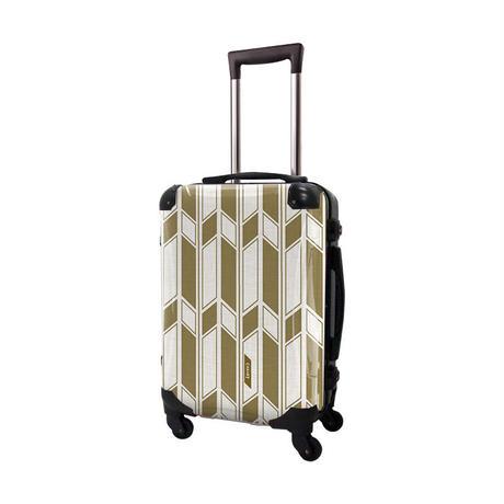アートスーツケース #CRA01H-043D ジャパニーズ旅趣  麻織 琥珀色