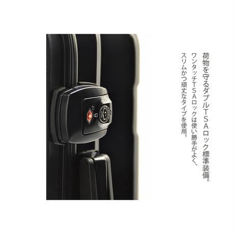 アートスーツケース #CRA01H-006A|ベーシック ピポパ(ピーチ×ブラック)