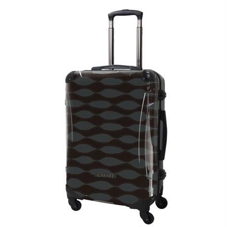 アートスーツケース#CRA03H-041C|ジャパニーズ旅趣 | 波線織(ダークグレー)