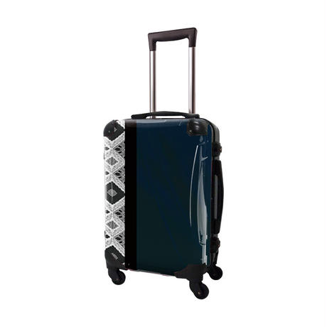 アートスーツケース #CRA01H-033D|ジャパニーズモダン 旅化(ダークネイビー)