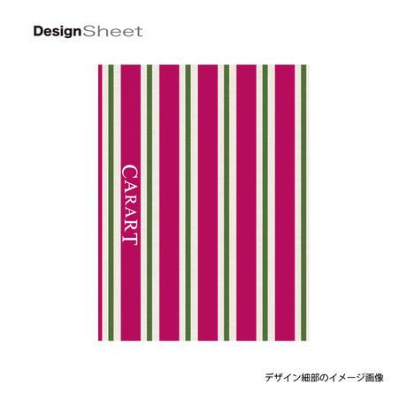 アートスーツケース #CRA01H-007C|ベーシック ストライプ(ピンク×グリーン)