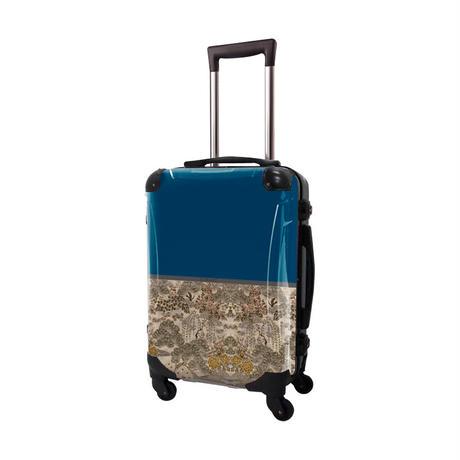 アートスーツケース #CRA01H-018B ジャパニーズモダン 旅人(ネイビー)