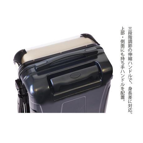 アートスーツケース #CRA01H-007E|ベーシック ストライプ(オレンジ×ネイビー)