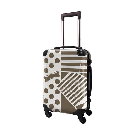 アートスーツケース #CRA01H-012F|プロフィトロール ポポ(ライトブラウン)