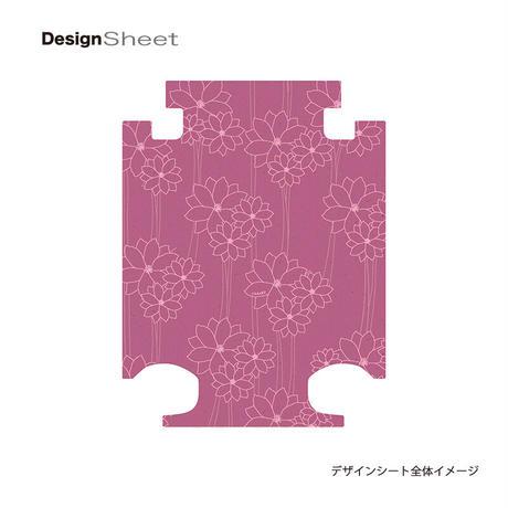 アートスーツケース #CRA01H-040D ジャパニーズ旅趣  水仙華  ピンク