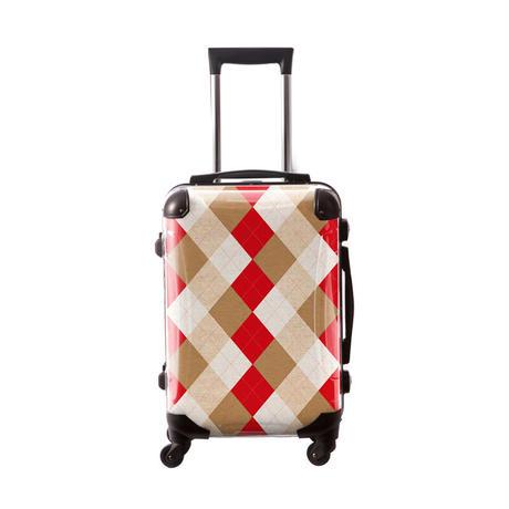 アートスーツケース #CRA01H-036C アーガイルツイスト(レッド×ベージュミックス)