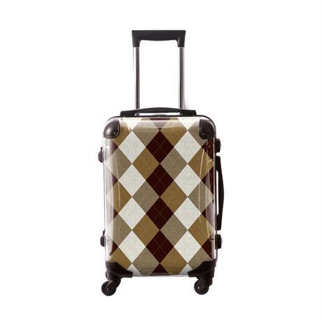 アートスーツケース #CRA01H-036H|アーガイルツイスト(ブラウンミックス×オフホワイト)