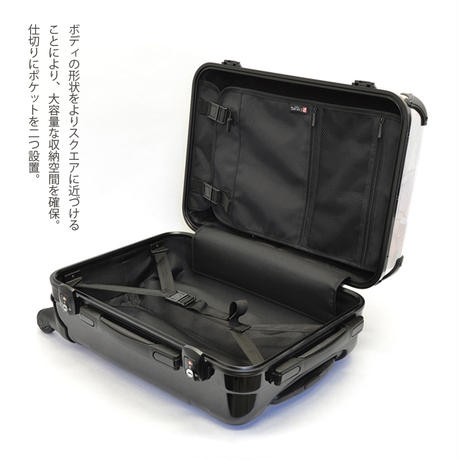 アートスーツケース #CRA01H-026B|ポップニズム メトリ(イエロー×ブラック)