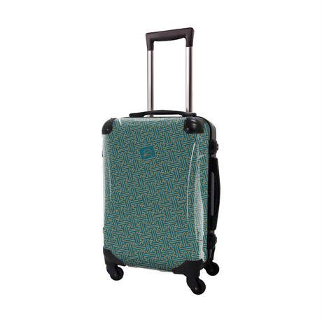 アートスーツケース #CRA01H-047D|ジャパニーズ 印伝調 さや(エメラルドブルー)