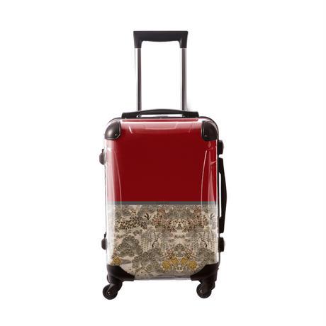アートスーツケース #CRA01H-018C|ジャパニーズモダン 旅人(ダークレッド)