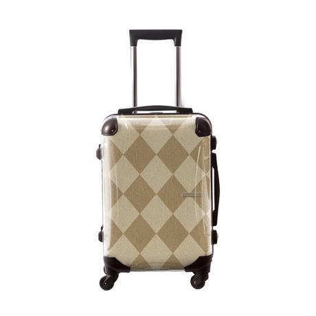 アートスーツケース #CRA01H-038C|アーガイル(ベージュミックス)
