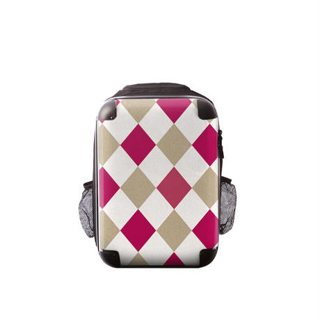 アートリュックサック#CRC02N-037D|ダイアモンドチェック(ピンク×ベージュ×ホワイト)