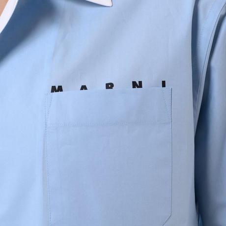 マルニ Marni 半袖シャツ コットン ライトブルー