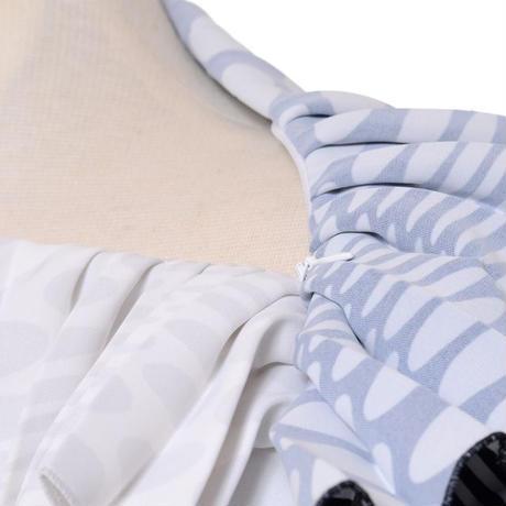 エムエムシックス メゾンマルジェラ MM6 MAISON MARGIELA プリーツトップスブラウス ポリエステル ホワイトベージュブラック
