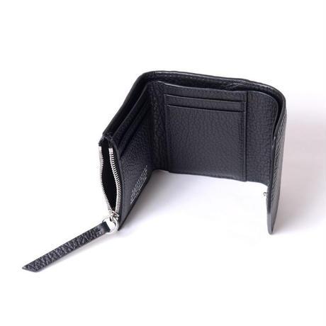 メゾン マルジェラ Maison Margiela 3つ折り財布 グレインカーフレザー ブラック