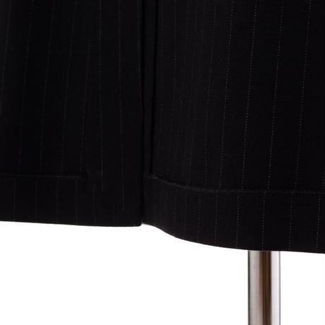 エムエムシックス メゾンマルジェラ MM6 MAISON MARGIELA インサイドアウトタイトスカート ジャージー ブラックストライプ