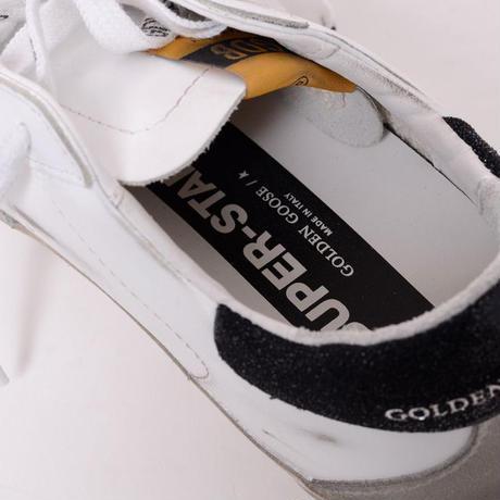 ゴールデングース Golden Goose スーパースタースニーカー レザー ホワイトシルバーブラック