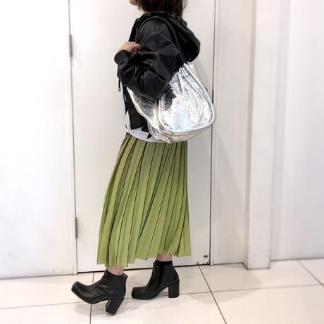 プロエンザスクーラー Proenza Schouler 巾着型トートバッグ スムースレザー メタルシルバー