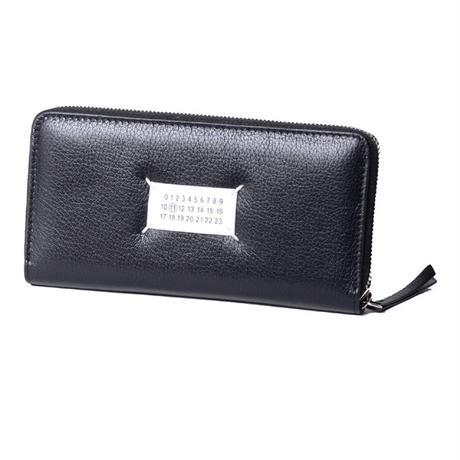 メゾン マルジェラ Maison Margiela ロゴパッチ付き長財布 やぎ革 ブラック