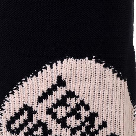 ラフシモンズ RAF SIMONS ロングニットジャガード織スカート ブラックピンク
