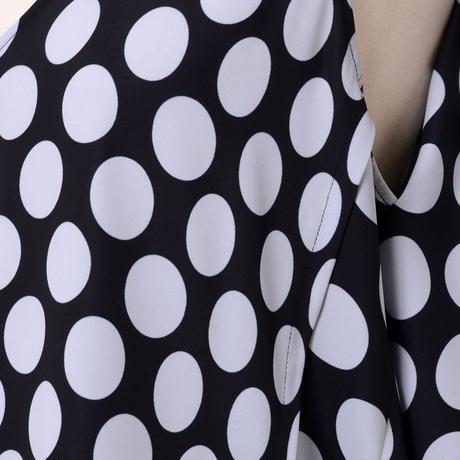 エムエムシックス メゾンマルジェラ MM6 MAISON MARGIELA ケープ付きブラウス ポリエステル ブラックホワイトドット