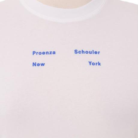 プロエンザスクーラー Proenza Schouler 半袖ロゴ入りカットソー コットンジャージー ホワイト