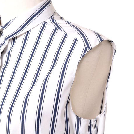 アスペジ ASPESI ノースリーブシャツ コットン ストライプ