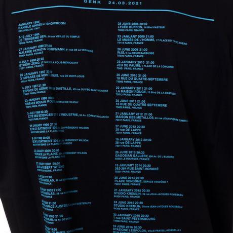 ラフシモンズ RAF SIMONS アタラクシア・ビッグフィットツアーTシャツ コットン ブラック
